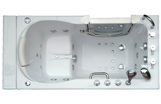 Dual Drain Acrylic Walk in Tubs - Accessible Walk-in Bathtub
