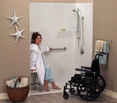 Freedom Accessible Showers offer the ultimate in barrier free bathing. - Accessible Showers